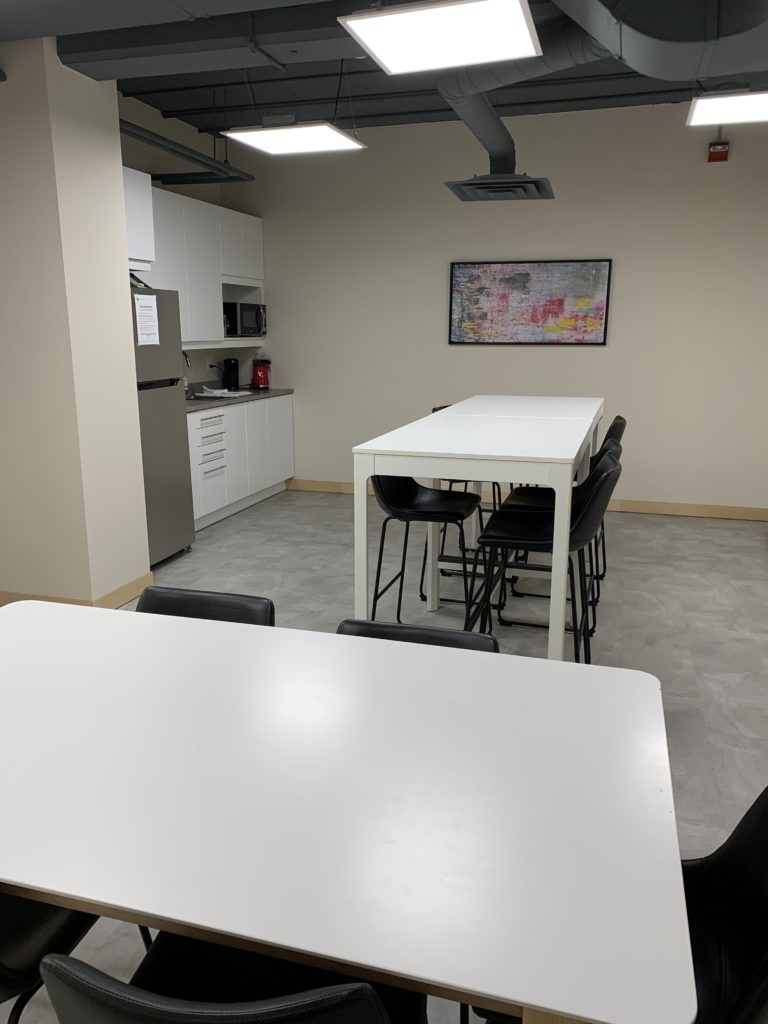 Staff lounge + collaborative working space